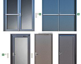 glass 3D Metal fire doors