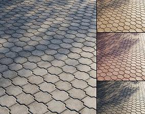 3D Concrete paving slabs Type 16