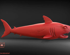 3D printable model Evil shark with scars