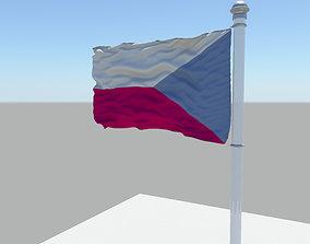 Czech Republic flag 3D