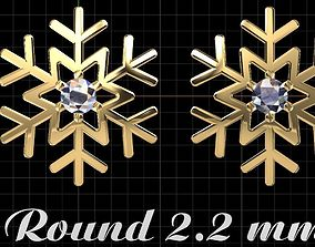 Snow earring 3D printable model