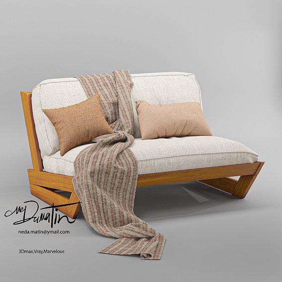sunset teak lounge sofa