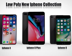Iphone X Iphone 8 plus Iphone 8 low Poly 3D low-poly