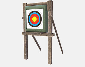 Low Poly Medieval PBR Shooting Target accuracy 3D model