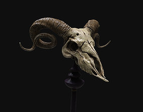 3D model Ram Skull - Lowpoly and Highpoly