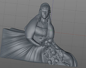 3D model bride nuptial
