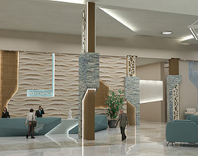 Reception Hotel Interior 3D