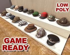 Hats Collection 3D asset