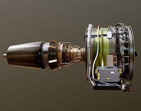 3D model Airbus A320 Airplane Enigne Turbofan
