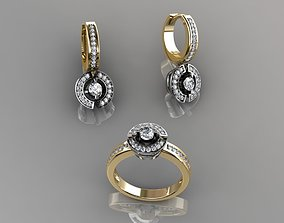 Ring and Earrings 35 3D print model