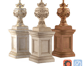 3D Classic vase for decoration of the facade and interior