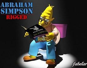 3D Abraham Simpson rigged