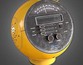 3D Retro Radio Midcentury Collection PBR Game Ready