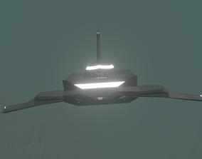 Grey alien spaceship 3D model