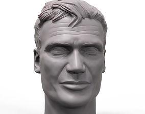 Dolf Lundgren 3D printable portrait sculpture