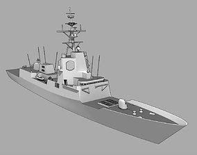 warship FFG F-100 Alvaro de Bazan class 3D asset
