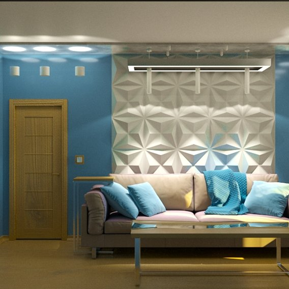 this bedroom is made in 3d max 2020 in high quality. write your comments or recommendations on this work
