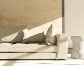 detail 3D model Contemporary sofa
