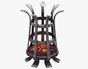 3D asset Medieval Brazier