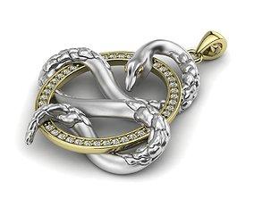 serpent Snake Pendant 3D print model