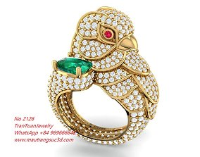 3D printable model 2126 Diamond Parrot Ring already make 2