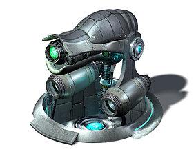 3D model Spaceship - Ground Fort 01