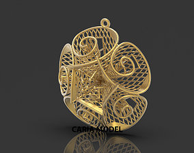 Ultra Fusion Pendant STL 3d model for 3d printing 052