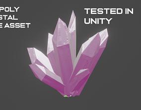 Crystal Mine Game Asset 3D model low-poly