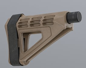 3D asset low-poly Tactical Brace