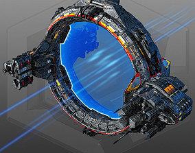 3D asset SciFi JumpGate
