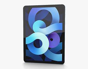 3D Apple iPad Air 2020 Sky Blue