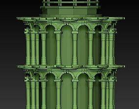 3D model Roman style tower
