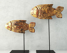 3D model Antique Burmese Gilded Fish