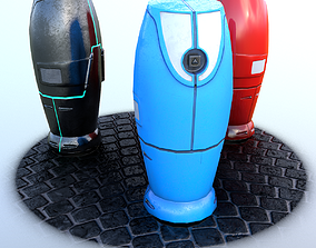 Modern and Sci-fi Hydrant PBR lowpoly model 3D asset