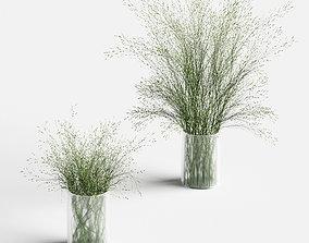 3D model Grass in Vases 2 matte