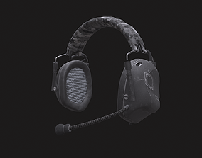 Headset Low-Poly 3D asset