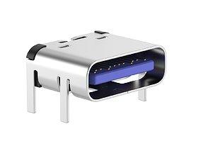 Micro USB Type C Female Module 3D model