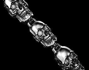 Skull Bracelet Chain 3D print model