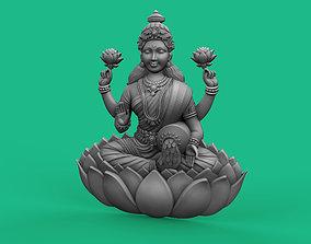 Goddess Laxmi Bas relief 3D printable model jewelry