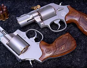 3D asset model 357 Magnum Barrel 7 Rounds Wood