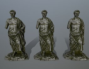 statue 5 3D asset low-poly