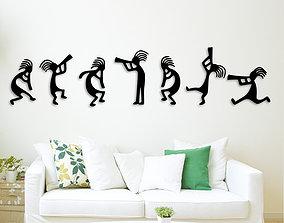Musicians team wall decoration 3D print model