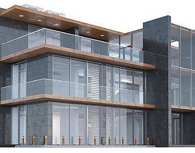 3 Floor Office Building 3D model