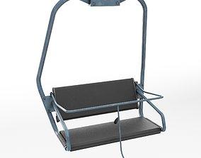 Ski lift chair small 3D