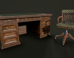 Table and Chair Gameready 3D model