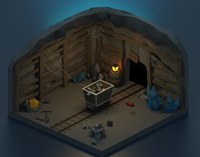 3D asset realtime Mining - Low Poly