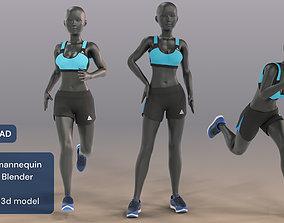 Woman mannequin V2 Rigged 3D asset