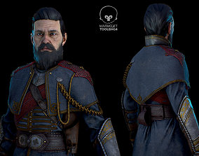 Knight of the Round Table 3D asset low-poly