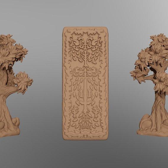 Feywild and Aztlan Printable Terrain Props