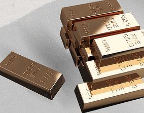 3D model Fine Gold Bars 1000 gr